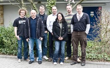 Torsten Hoffmann, Ralf Zänger, Thomas Emmes, Michael Gabriel, Marion Kowal, Patrick Arnold und Ingo Thiel