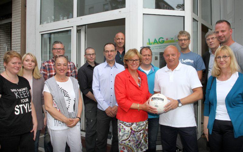 Ministerin Schäfer eröffnet Fachstelle NRW Fanprojekte (LAG) in Düsseldorf